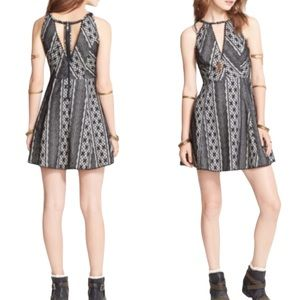 FREE PEOPLE Missed Connections Black Lace Dress